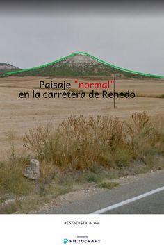 Este cerro en la carretera de Valladolid a Renedo podría tener una forma similar a la distribución normal. Si lo vas a mirar el paisaje mismo es normal en nuestra zona, ya en el sentido de habitual, no de distribuciones ;) #ESTADISTICAUVA