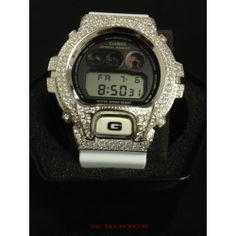 Bling Bling G Shock Watch 316L White Band DW6900