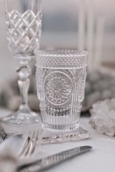 Beach Wedding Inspiration Beach Wedding Inspiration, Style Inspiration, Wedding Designs, Wedding Styles, Crystal Stemware, Wedding Place Settings, Decoration Inspiration, Luxe Wedding, Wedding Locations