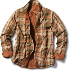 At REI Outlet: Men's prAna Rhody Reversible Jacket — Smooth nylon side and plaid cotton side for fun in the outdoors.
