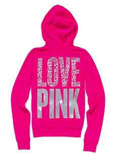 Details about VICTORIA'S SECRET LOVE PINK HOODIE! XS | Victoria ...