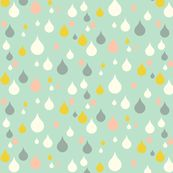 rain by luckywe, Spoonflower digitally printed fabric