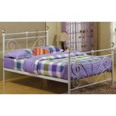 Patras 4ft 6 Double White Metal Bed Frame