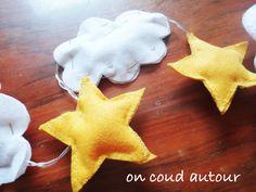Tuto étoiles, nuages et montgolfières