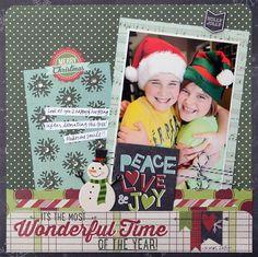 #scrapbook #layout #christmas