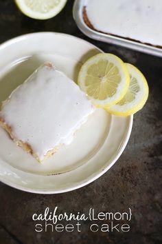 California {Lemon} Sheet Cake