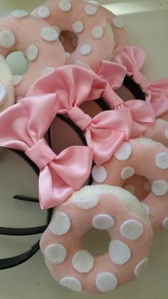 "Any disney and donut lovers out there ? Get your ""Sweetheart"" ears for your next trip to disney . Follow on Instagram @Lovelydonuts_"