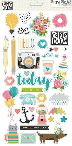 Simple Stories - Carpe Diem Collection - Chipboard Stickers at Scrapbook.com