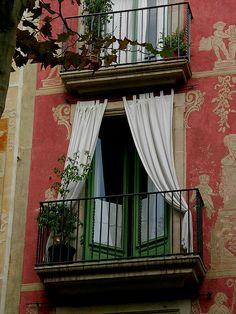 Balcony, Barcelona, Spain photo via melissa