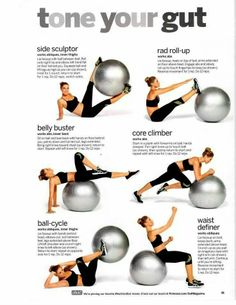 Tone your gut with a stability ball.