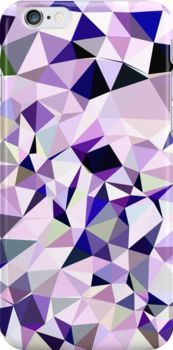 Blue Violet Abstract Low Polygon Background by retrovectors