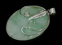 Chalcedoon in 925 sterling zilveren hanger - Chalcedoon en bedels, zilveren