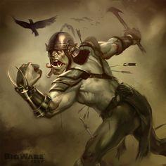 #orc; #hobgoblin; #warrior; #fighter; #raven