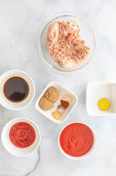 Sloppy Joes Ingredients For Sauce Chicken Sloppy Joe Recipe, Sloppy Joes Recipe, Sloppy Joe Sauce, Ground Chicken Recipes, Burger Buns, One Pan Meals, Keto Foods, Baked Beans