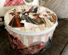 favorite home to visit Decoupage Box, Shabby Chic Crafts, Hat Boxes, Altered Boxes, Treasure Boxes, Painting On Wood, Decorative Boxes, Projects To Try, Handmade