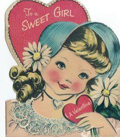 Vintage Children's Valentines Day card