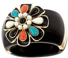 ShopStyle: Blu Bijoux Pearl Flower Cuff