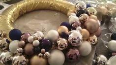 Aurata-Design - Weihnachts-Spezial - Adventskranz aus Kugeln selber machen