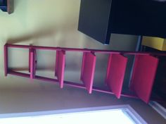 Repurposed old wooden ladder!