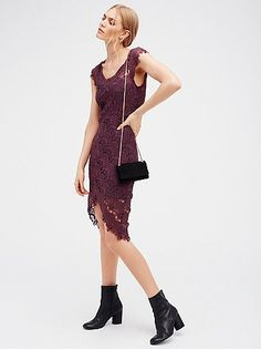 Peekaboo lace cap sleeve dress