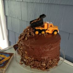 Dump truck cake Connors 6th birthday