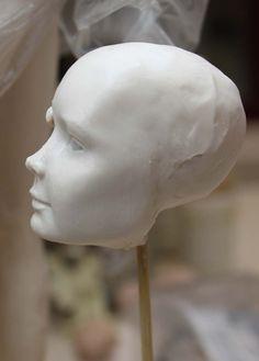 . ........Art dolls by Claudine Roelens........: face flapper doll / gezicht flapper pop