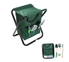 Trademark Innovations SEATGRDNTOOLS 7 Piece Gardening Set with 6 Tools and Seat Green >>> You can find out more details at the link of the image.