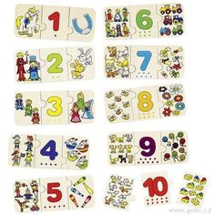Puzzle contar y clasificar,Conoce y categoriza los números. Solo las combinaciones correctas del puzzle encajan entre si. Aprende a contar hasta 10 mientras disfruta haciendo estos bonitos puzzles.