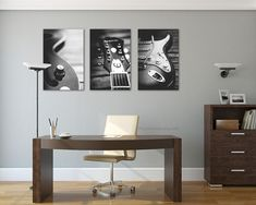 Fender Electric guitar/large canvas art/Large wall art/set of 3 prints #photoforwall #gallerywall #homedecor #home #livingroomdecor #photooftheday #Photo4wall #wallart #walldecor #prints #guitare #fender #music #musician #musicplayer #blackandwhite #blackandwhitephotography #office #officedesign #officedecor #furniture #canvas
