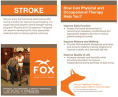 Physical and Occupational Therapy can help after a stroke.