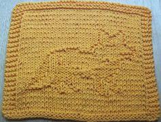 DigKnitty Designs: Fox Knit Dishcloth Pattern