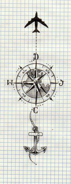 ideas for tattoo compass plane The post ideas for tattoo compass plane & Tattoo schwarz-weiß appeared first on Tattoos . Map Tattoos, Foot Tattoos, Body Art Tattoos, Sleeve Tattoos, Travel Tattoos, Temporary Tattoos, Compass Drawing, Compass Tattoo Design, Compass Art
