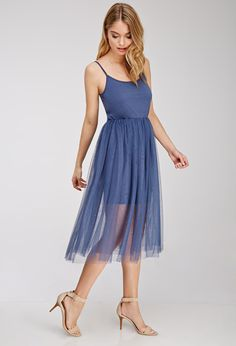 Forever 21, tulle overlay cami dress, $19.90, available at Forever 21.
