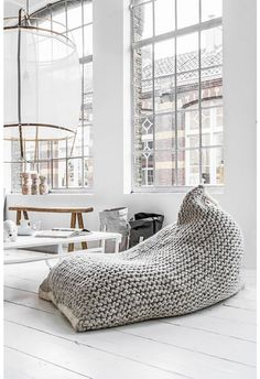 Now that's what I call a bean bag!! Relaxing! = zila lila beanbag = photo and styling by Paulina Arcklin ❥