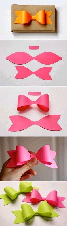 Gift Paper Bows  ممكن أيضاً بخامة الجوخ/اللباد