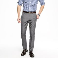 gray pants ($88) with the brown tweed vest? Peach shirt and gray tweed/wool tie? Bowery slim in heather cotton twill