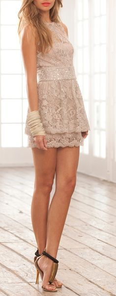 Cute but i would wear it as a shirt... lace party dress / alexis
