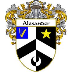 Alexander Coat of Arms   namegameshop.com has a wide variety of products with your surname with your coat of arms/family crest, flags and national symbols from England, Ireland, Scotland and Wale