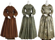 photo 1840s WOMAN | the 1840s the first two are american cotton dresses from between 1840 ...