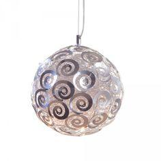 Litecraft 5 Light Wire Nest Ceiling Pendant Light Fitting Shenyang - Chrome for sale Pendant Light Fitting, Light Pendant, Ceiling Pendant, Ceiling Lights, Shenyang, Swirl Design, Light Fittings, Chrome Finish, Christmas Bulbs