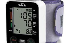 SIMBR Tensiomètre Electronique de Poignet Tensiomètre Automatique Professionnel Portable Mémoire de 180 données stockées Grande Précision…