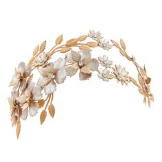 A part of the Luxe and Luminous Collection, Abbey Garden Bandeau is a botanical inspired bridal headpiece with a touch of boho Luxe. Designed and made in Australia. Vintage Headpiece, Headpiece Wedding, Bridal Headpieces, Silver Roses, Rose Gold, Gold Crown, You Are Awesome, Earring Backs, Headbands