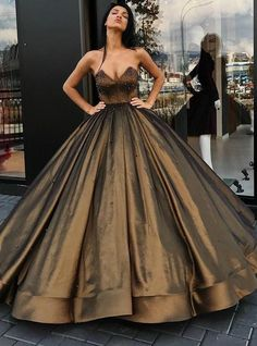 Hot Sale Cute Prom Dresses Long, Ball-Gown Sweetheart Floor-Length Satin Long Prom Dresses With Beading V Neck Prom Dresses, Long Prom Gowns, Ball Gowns Prom, Tulle Prom Dress, Long Wedding Dresses, Ball Gown Dresses, Cheap Prom Dresses, Prom Ballgown, Dress Long