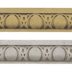 Easy Egg & Dart Furniture Stencil by Royal Design Studios    Great for furniture but also for architectural molding!  Transforms an ordinary room design into the fantastic old world charm you never imagined before!