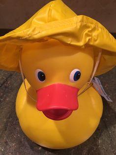 Cure Rubber Duck in Rain Hat | eBay