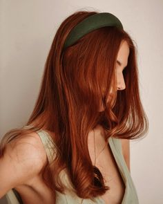 Vera Forest Green Linen Padded Headband   Rock N Rose – Rock n Rose Grateful For You, Rock N, Natural Linen, Braids, Long Hair Styles, Beauty, Rose, Green, Bang Braids