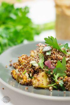 komosa ryżowa i mango sałatka lekki i szybki obiad wegetarianski