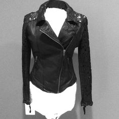 Muubaa laser cut leather jacket.  Rare Size US 6, Muubaa laser cut moto real leather jacket. New with tags. Soft leather, soft liner. Really cool and hard to find. Muubaa Jackets & Coats