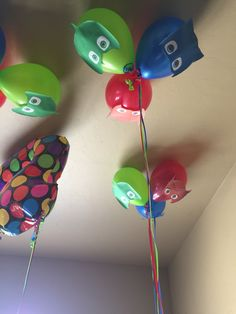 PJ Mask Balloons links to picture only Fourth Birthday, 4th Birthday Parties, Boy Birthday, Birthday Ideas, Pjmask Party, Party Time, Party Ideas, Pj Masks Balloons, Festa Pj Masks