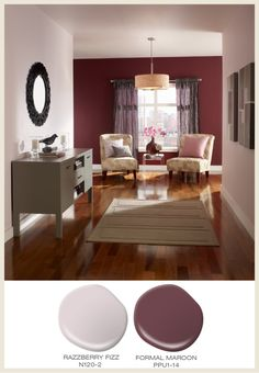 Dining Room Colors Brown burgendy accent wall | burgundy accent wall in living room | for